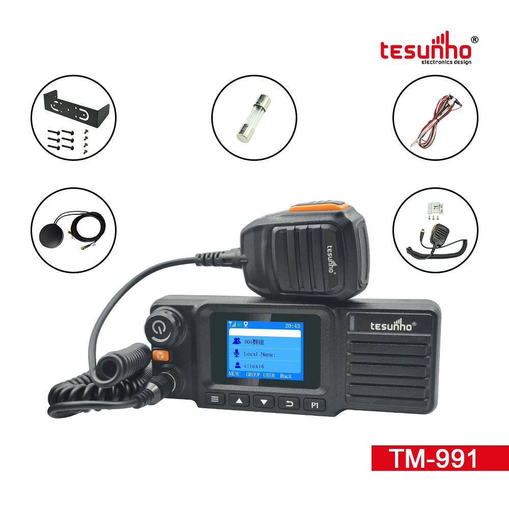 Tesunho TM991,GPS Vehicle Walkie Talkie 4G Real Ptt Mobile Radio With CE/FCC Certificate