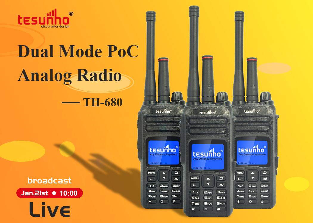 Dual Mode And Poc Analog Radio TH-680 Live Stream