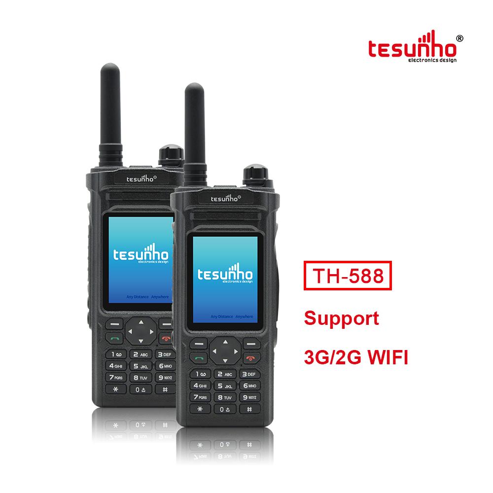 TESUNHO Public Network IP Two Way Radio GPS WIFI Bluetooth Built-in TH-588
