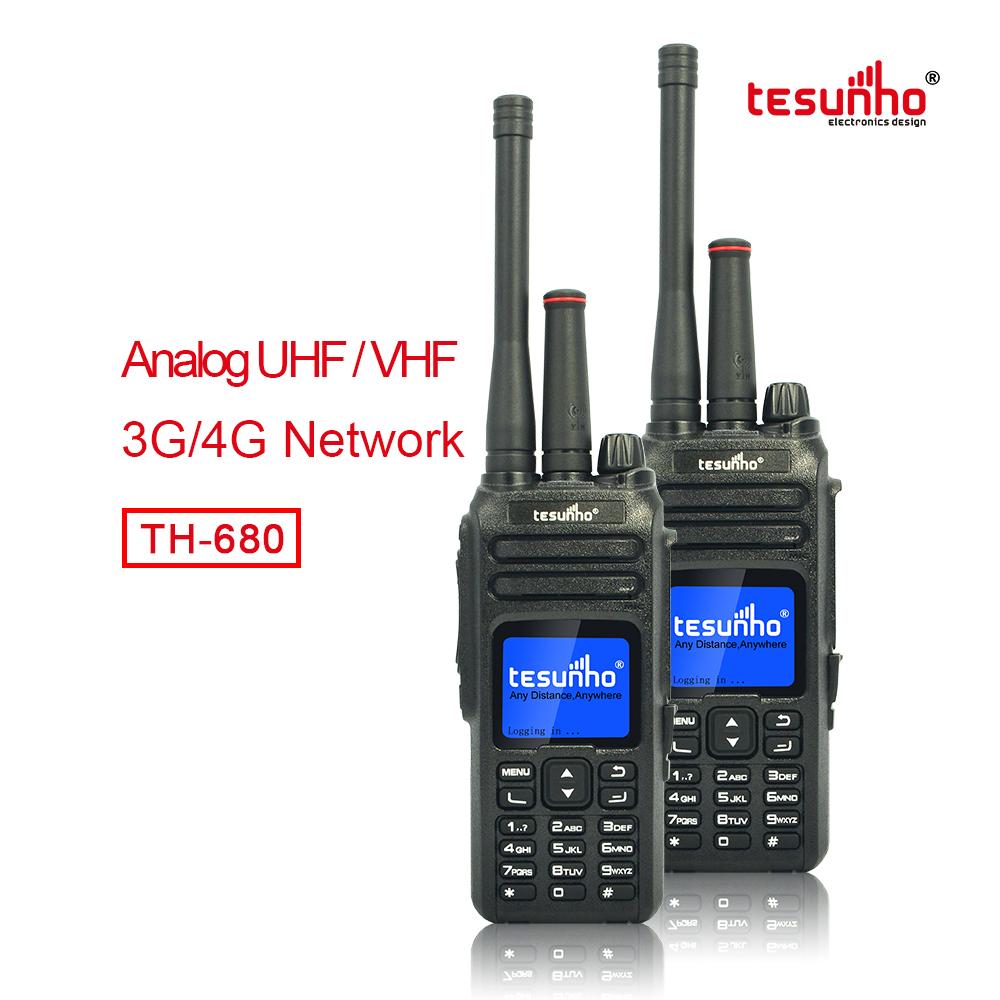 Dual Mode Analog IP Network VHF/UHF Two-way Radio with Sim card TH-680