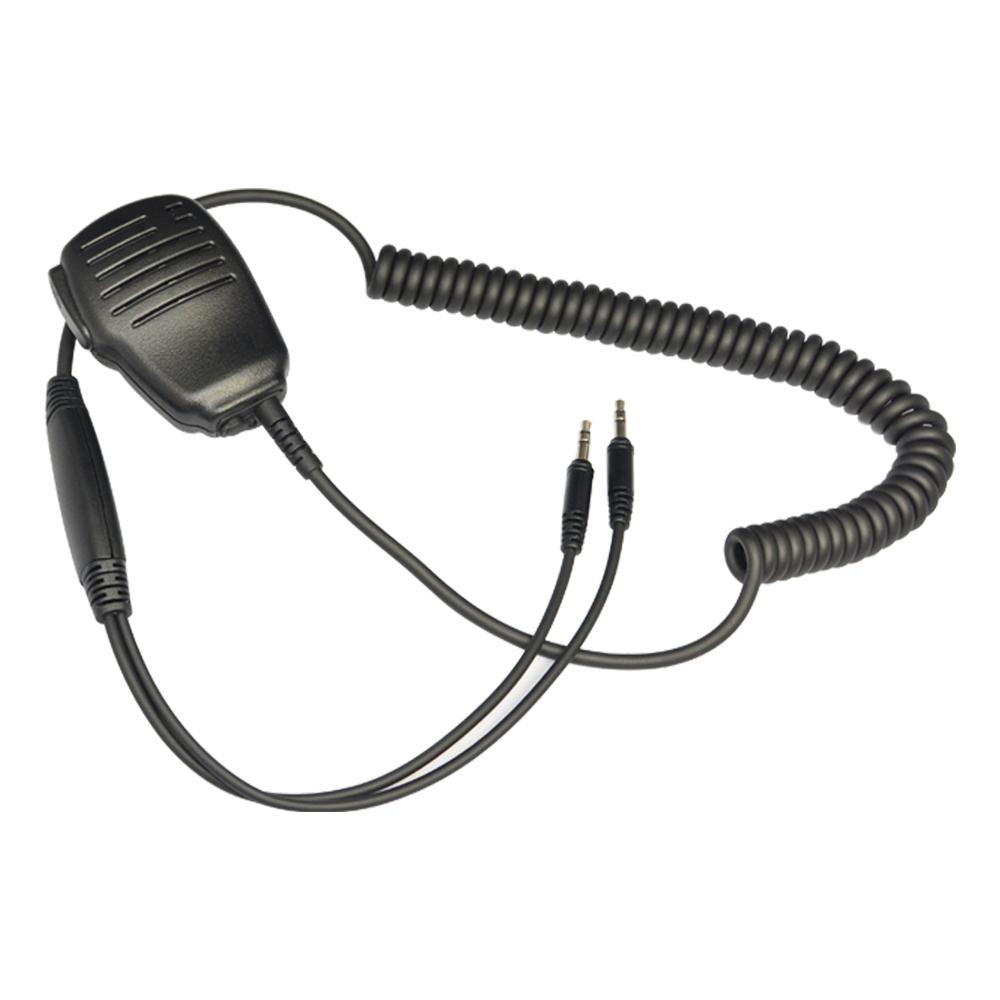 Dual Plug Hand Microphone,Walkie Talkie Handmic