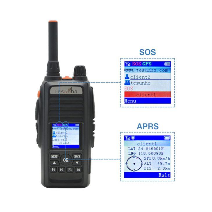 Push To Talk Over Cellular Radio Walkie Talkie With WIFI & GPS