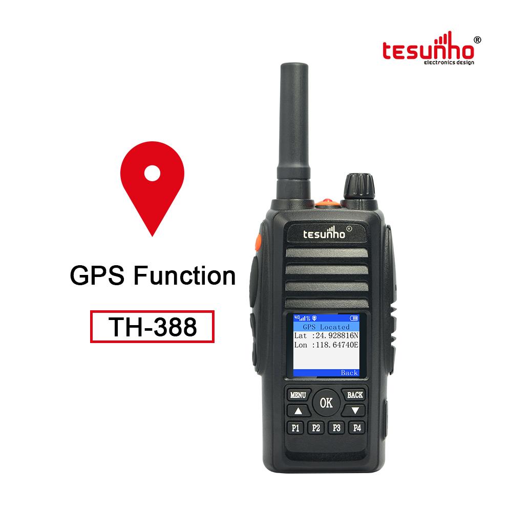 TESUNHO TH388 smart PTT 100 mile walkie talkie with GPS
