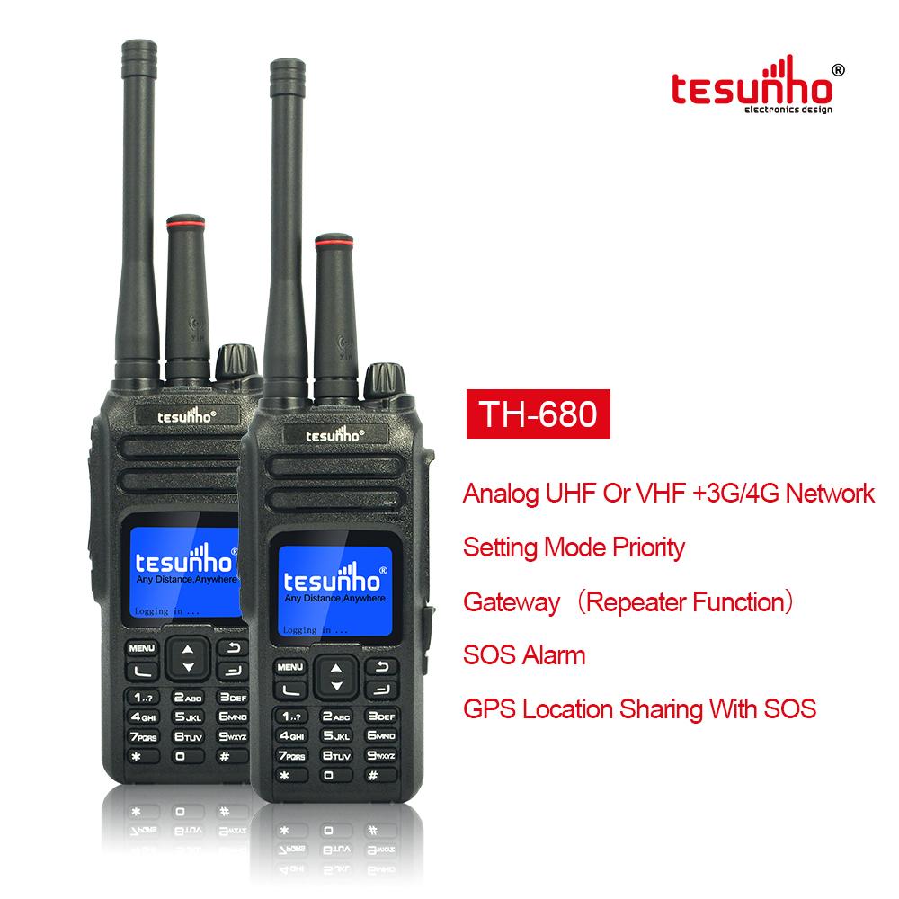 Dual Mode IP Analog 2 Way Radio With SOS Button TH-680