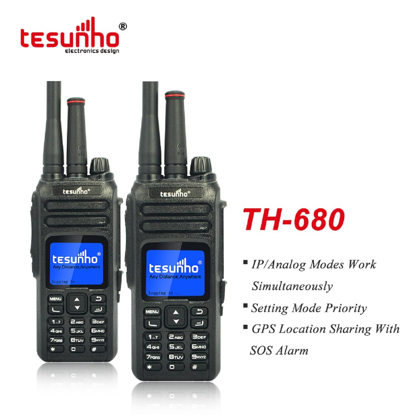 Dual Modes LTE POC Analog Thailand Walkie Talkie Tesunho TH680