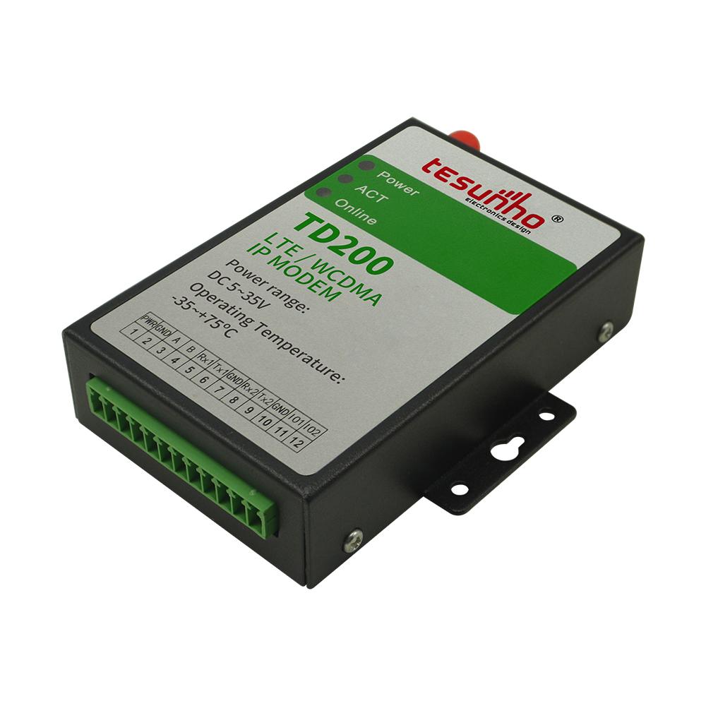 TD200 Tesunho high power 2G/3G/4G modbus ip modem sms gateway rs232 gprs modem
