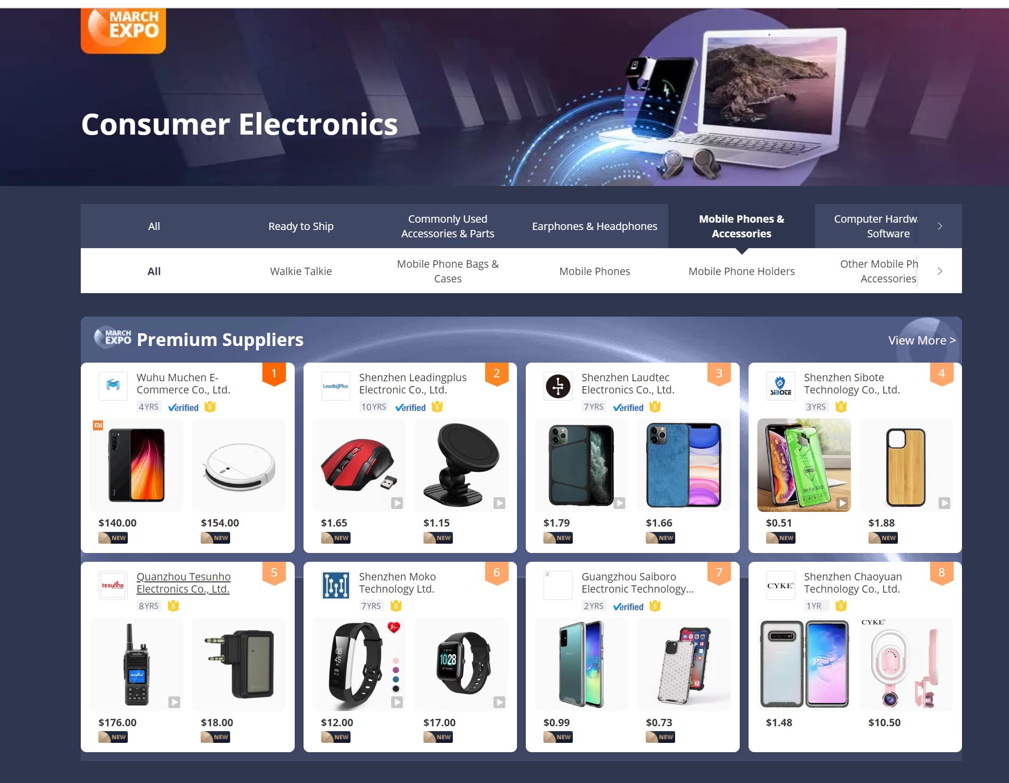 Top5 kept on B2B platform in walkie talkie catalog